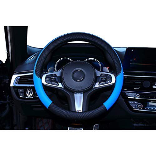 juqilu Microfiber Leder Auto Lenkradabdeckung/Durable / Dick/Anti-Slip/fit 38cm / 15 Zoll Mittlerer Größe
