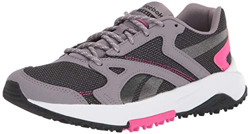 Reebok Zapatillas de Correr para Mujer Lavante Terrain, (Gravity Gris/Negro/Rosa Orgullo), 40 EU