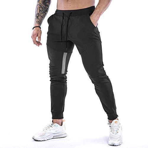JEPOZRAP Pantaloni Sportivi Uomo ,Cintura Elastica Lungo da Jogging Pantaloni Sportivi,con Tasche Slim Fit Allenamento Pantaloni per Allenamento Palestra Corsa Asciugatura Rapida