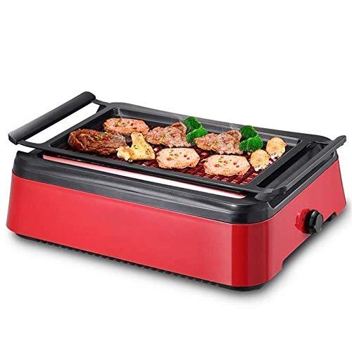 LVYE1 MRMF Plancha De Cocina, Plancha De Asar Grill Eléctrico Parrilla De Cocina Antiadherente 1500W Temperatura Regulable para La Grasa Extraíble