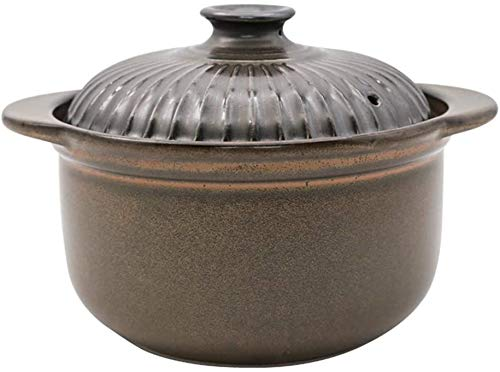 ZCM Mit Deckel Keramik Eintopf, Premium Dampf Suppe Schüssel, Dampfbecher, Keramik Auflauf, Japanischer Hot Pot, Steingut Topf Reiskocher, Tontopf Für Vogelnest Hühnersuppe(Color:EIN,Size:4.1l)