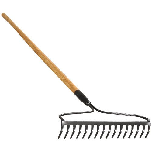 A.M. Leonard Bow Rake with Ash Handle - 16.5 Inches/16 Tines