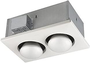 Broan-Nutone 163 Bulb Heater, Energy-Saving 2-Bulb Infrared Type IC Ceiling Heater, White, 250-Watt