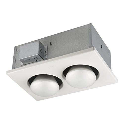 Broan-Nutone 163 Bulb Heater, Energy-Saving 2-Bulb Infrared...
