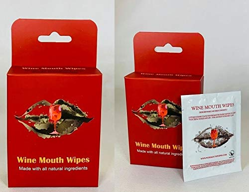 Wine Mouth Wipes- All Natural- Red Wine Stain Removal Oral Wipe