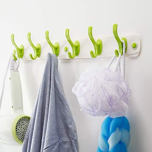 Z·Bling Colgador para Toallas de el plastico Ganchos Adhesivos Percha para Abrigos o Albornoces Adhesivo Organizador de CocinaToallero Sin daños 40cm