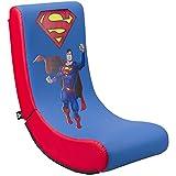 Subsonic - Superman - Silla De Juego Gaming Rock'n'Seat Junior - Asiento Gamer para Habitación De Niños Y Adolescentes con Licencia Oficial (Playstation 5)