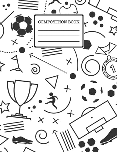 football Composition Book: football Notebook Cute Medium Lined Journal for Students, Kids and Teens for Writing & Notes, 120 Wide Ruled pages ( football Lovers Notebook).