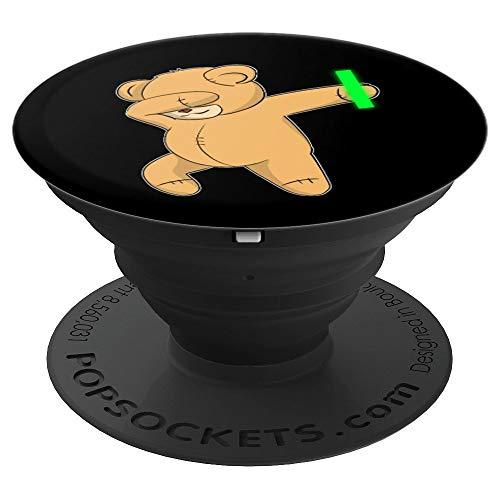 Dabbing Teddy Bear Rave Dance Party Music Gift - PopSockets Ausziehbarer Sockel & Griff für Smartphones & Tablets
