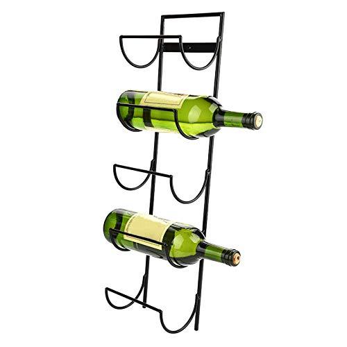 XQAQX Soporte para Vino Tinto, Colgador para Vino Tinto, 5 Botellas Estante para exhibición de Vino Tinto