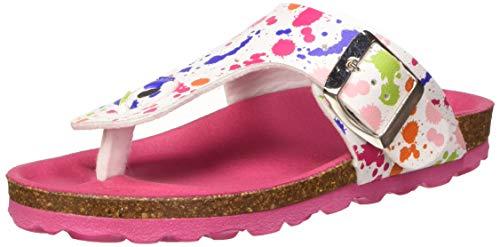 Kickers Summeriza, Infradito Bambina, Multicolore (Blanc Imprime Multicolor 32), 31 EU