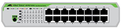 Allied Telesis AT-FS710/16-50 No administrado Fast Ethernet (10/100) Verde, Gris 1U -...