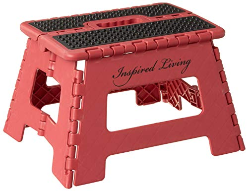 Inspired Living Step Heavy Duty foldingstools 9quot High RED