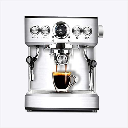 N/ A Business Kaffeemaschine Espresso-Maschine waschbar Abtropfschublade Hochdruck Edelstahl für Latte und Cappuccino