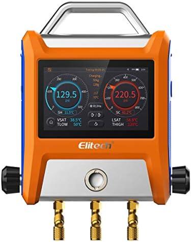 Elitech WJL-6000 Freon Leak Detector Halogen Leak Detector Refrigerant Gas HVAC R22 R410A R134A R1234YF CFCs HCFCs HFCs Detector High Accuracy