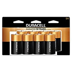 Duracell - CopperTop D Alkaline Batteries with recloseable package - long lasting, all-purpose D battery for household and business - 8 count Duracell D Batteries: The Duracell CopperTop D alkaline battery is designed for use in household items like ...