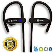 EM24 Bluetooth Headphones, Wireless Earbuds Sport, IPX7 Waterproof, Bluetooth Earphones w/Mic, Noise Cancelling Headsets, Gym Running Swimming Workout, 7-9 hrs Playback (Durable and Comfortable)