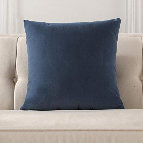 ZHANGDA Soft Velvet Multi Sizes Cushion Cover Nordic Solid Color Simple Pillowcase Soft Home Office Decor Waist Pillow Case,Model 9,45X45Cm