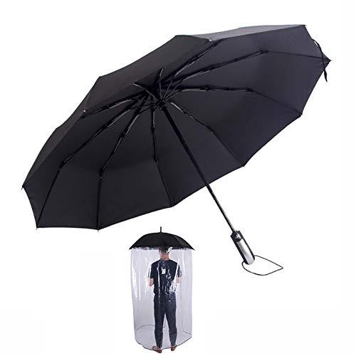 LLGHT Wasserdichter Haken Griff Regenschirm, Sneeze Guard Regenschirm Kunststoff Transparente Schutzschild Mit Wasserdichter Vorhang Guard-Partition Ganzer Körperschutz