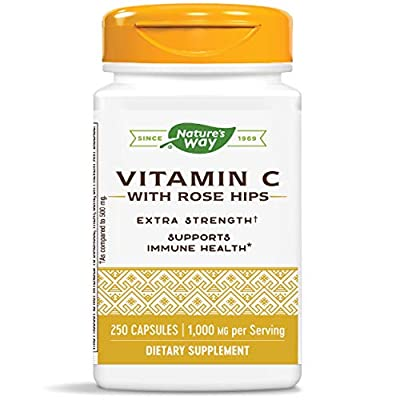Vitamin C with Rose Hips; 1000 mg Vitamin C per Serving; 250 Capsules