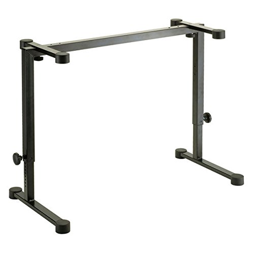 """K & M 18810.000.55 Table-Style Keyboard Stand, 50kg (110.23lbs) Capacity, 600-1020mm (23.62-40.15"""") Height"""