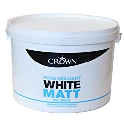 Crown Emulsion Brilliant White Matt Paint