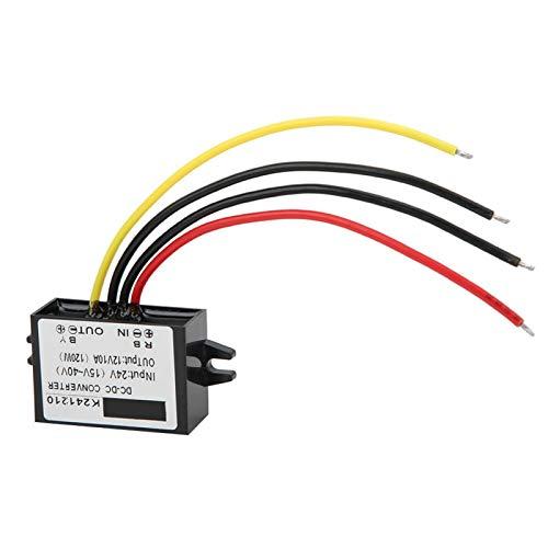 Convertidor Buck DC a DC Convertidor de fuente de alimentación de alto rendimiento Módulo reductor 24V a 12V para alarma de coche