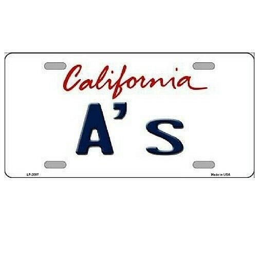 TNND Oakland Athletics California State Background Novelty Metal License Plate License plate sign 6x12 inches