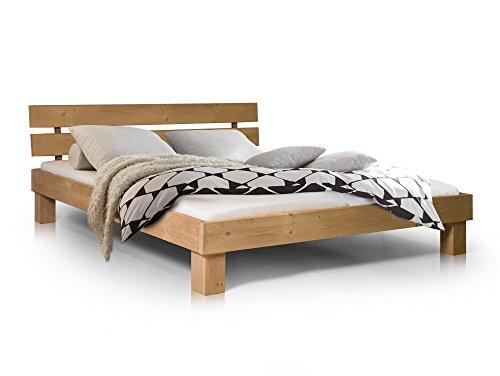 Massivholzbett Pumba Holzbett Doppelbett, Material Massivholz, Made in Germany, 180x200 cm, eichefarbig