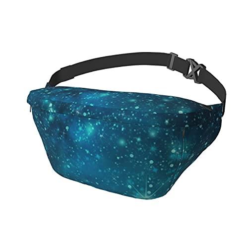Sport-Brusttasche Sling Bag Crossbody Schulterrucksack Blau Cosmic Spacey Sternenhimmel Mode Trend Taille Tagesrucksack für Reisen Gym Sport Wandern Radfahren für Männer Frauen