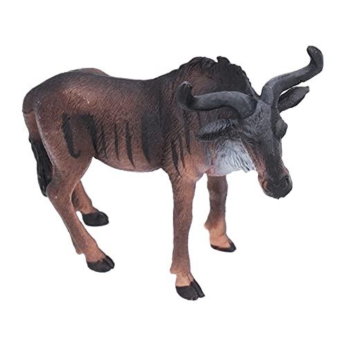 Afrikanisches Dschungelgnu Spielzeug Lebensechte Tierspielzeug Tiere Statue Geburtstagsgeschenk
