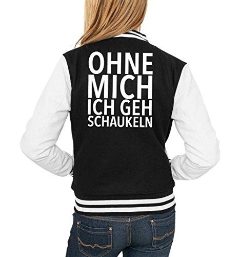 Ohne Mich Ich Geh Schaukeln College Vest Girls Black Certified Freak-S