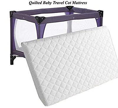 New Baby Toddler Travel Cot Foam/Mattress Waterproof Cover Quilted fits Most Graco Mamas & Papas Redkite Babystart etc Breathable Antiallergenic Reversible UK Made High Density Foam Sizes 95x65x05