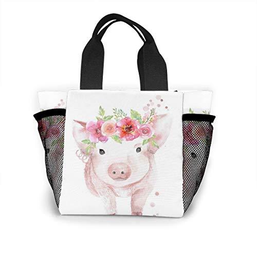 Happy Pig Year Purse Women Fashion Bag Reusable Shopping Bags Light Handbags High Capacity Gift Bags Food Storage Bags