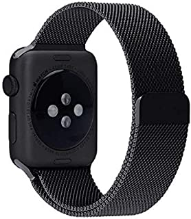 Milanese Loop For Apple Watch Band 42mm-Black - 2724342710134