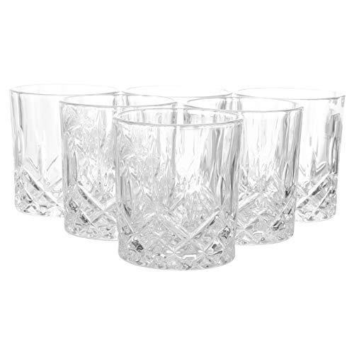 Hemoton 6 Piezas Vasos de Agua de Vidrio Templado Vasos para Beber...