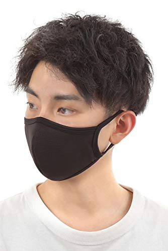 AthleX Mask, Sports Mask, 3D Mask Developed by Swimsuit Maker, Running, Gym, Washable, No Bad Mesh, Black, 1 Piece