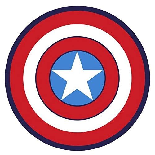 Tapis de poids léger extérieur intérieur Captain America Bouclier imprimé rond Tapis souples Tapis for Living Room anti-dérapant Tapis Chaise Tapis de sol for la maison Décor de chambre d