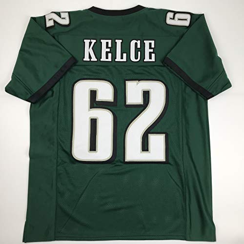 Unsigned Jason Kelce Philadelphia Green Custom Stitched Football Jersey Size XL New No Brands/Logos