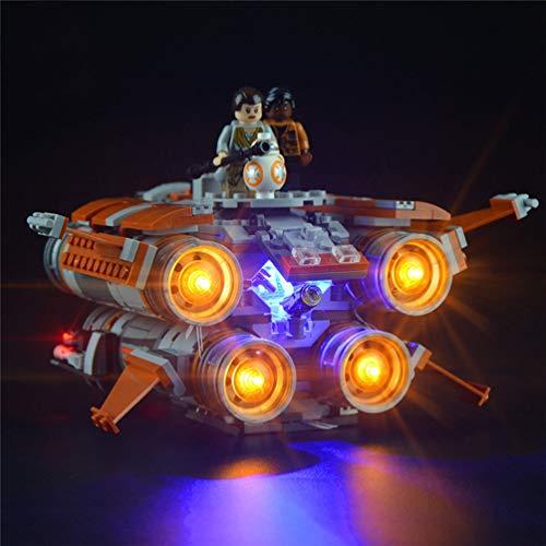 Juego De Luces Alimentadas por USB para (Star Wars The Jakku Quad Jumper) Modelo De Bloques De Construcción, Kit De Luz LED Compatible con Lego 75178, Solo Luz LED