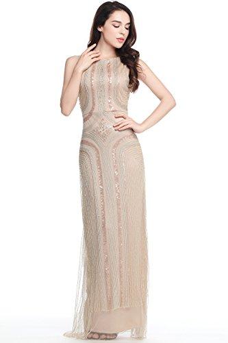 ArtiDeco 1920s Kleid Damen Maxi Lang Abendkleid Gatsby Motto Party Flapper Kleid Damen Kostüm Kleid...