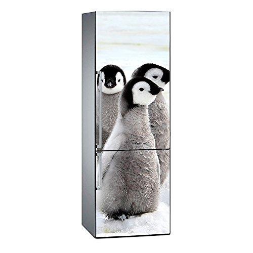 Oedim Vinilo para Frigorífico Pinguinos | 185 x 70 cm | Adhesivo Resistente y de Fácil Aplicación | Pegatina Adhesiva Decorativa de Diseño Elegante