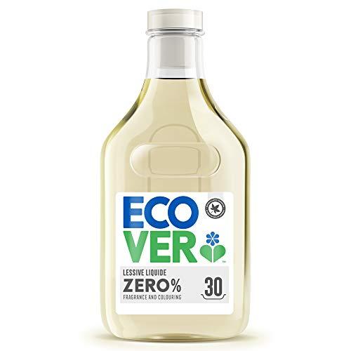 Ecover Lessive Liquide Zero | Sans Enzymes| Doux Pour Les Peaux Sensibles Hypoallergénique | Convient Pour Les Bébés | 1,5L - 30 Lavages