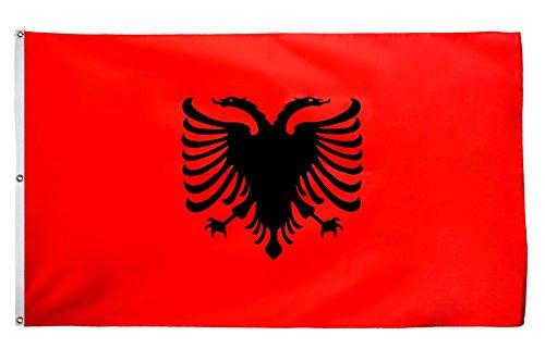 Flaggenfritze Fahne/Flagge Albanien - 150 x 250 cm + gratis Sticker, XXL-Fahne