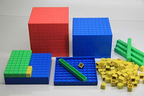 WISSNER® aktiv lernen -Decimales juego de cálculo (121 piezas) - RE-Plastic®