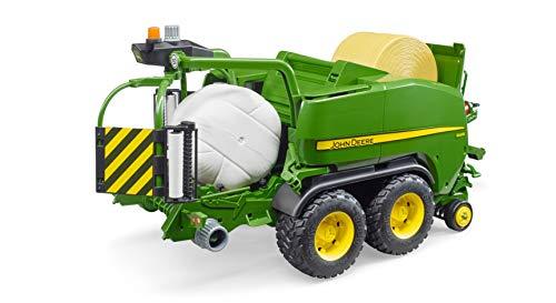 bruder- John Deere - Bobina de prensado, Color verde (2032) , color/modelo surtido