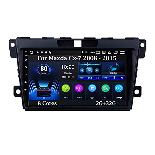 Android 10 9 Pulgadas Coche Radio De Coche GPS Navegación para Mazda Cx-7 cx7 cx 7 2008 - 2015 8 Cores 2G+32G Pantalla Tactil para Coche Accesorios De Coche Conecta Y Reproduce Car Audio Player