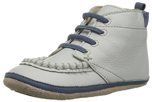 Robeez Baby-Boy's Boot Crib Shoe, Glen Desert Light Grey, 9-12 Months M US Infant