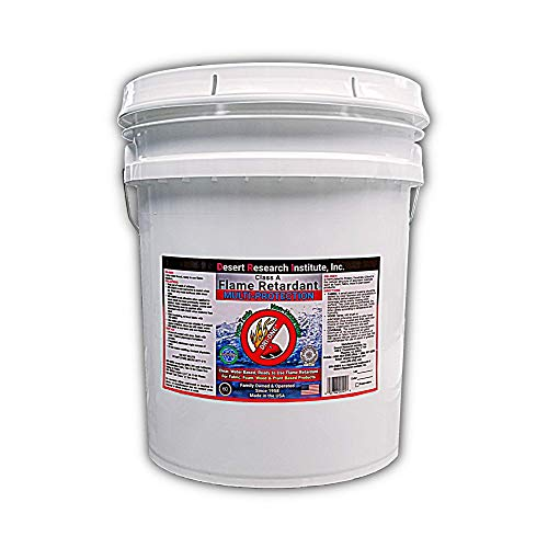 Fire Retardant Spray for Fabric, Wood, Thatch & More - Class A Flame Retardant Spray -Eco Safe - NFPA 701- ASTM E84-5 Gallon Pail of DRI-ONE by Desert Research Institute, Inc.
