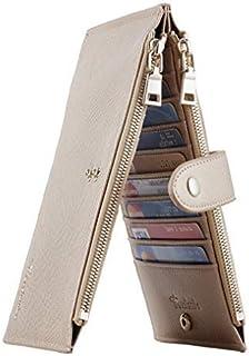 کیف پول مسافرتی Travelambo RFID مسدود کردن کیسه کیف پول چند منظوره Bifold با جیب زیپ